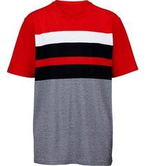 t-shirt men plus marinblå::vit::röd