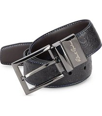 garrison paisley-embossed leather belt
