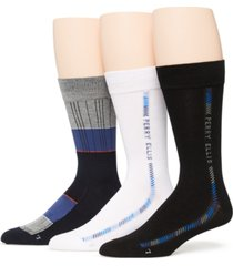 perry ellis portfolio men's 3-pack socks