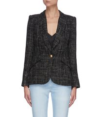 'chamberlain' single breast tweed blazer