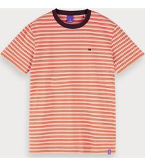 scotch & soda t-shirt met all-over print