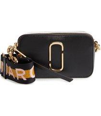 marc jacobs snapshot crossbody bag - black