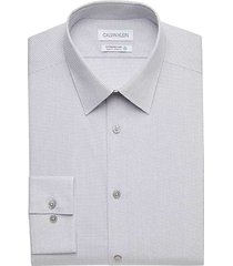 calvin klein men's sustainable steel gray slim fit dress shirt - size: 15 32/33