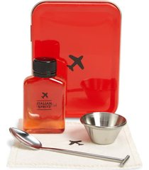 w & p design carry-on cocktail kit, size one size - red