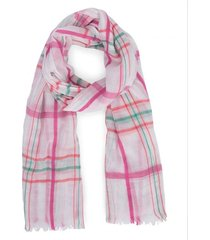 amaro feminino lenço leve xadrez, rosa