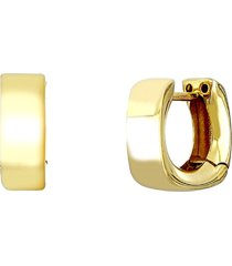 women's bony levy 14k gold bold square huggie hoop earrings (nordstrom exclusive)