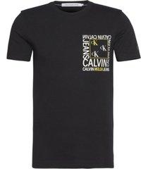 polera slim monogram square negro calvin klein