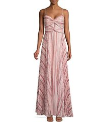 beatrix pleated chiffon maxi dress