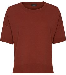sfwille ss knit pullover t-shirts & tops short-sleeved röd selected femme