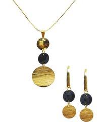 conjunto laura dorado con swarovski joyas montero