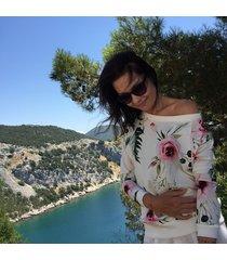 bluza macco flower biała