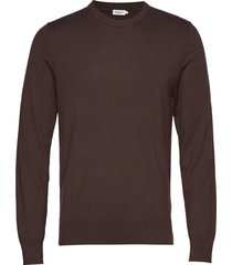 m. cotton merino basic sweater gebreide trui met ronde kraag bruin filippa k