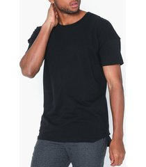 selected homme slhkibe ss o-neck tee l t-shirts & linnen svart