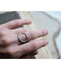 srebrny pierścionek minimalistyczne koło