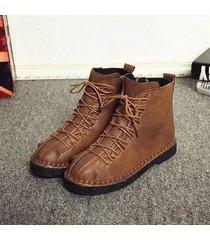 vintage stivaletti bassi alla caviglia con zip da cucito