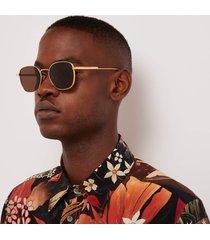 bottega veneta soft square frame sunglasses - gold/brown