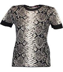 black and white short sleeve santa fe t-shirt