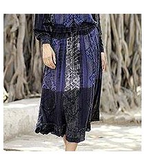 rayon peasant skirt 'tapestry' (india)