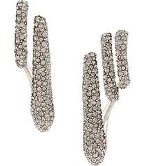 alexander mcqueen single triple-ear cuff earrings - silver