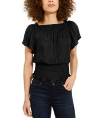 inc petite smocked convertible top, created for macy's