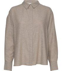 bri shirt långärmad skjorta beige stylein