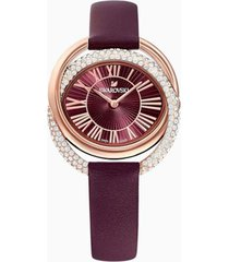 reloj swarovski modelo jewelry inspired vinotinto mujer
