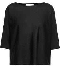 wide tee stickad tröja svart cathrine hammel