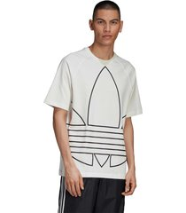 camiseta adidas originals big trefoil out off-white - off white - masculino - dafiti