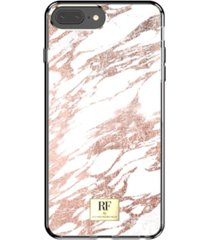 richmond & finch rose gold marble case for iphone 6/6s, iphone 7, iphone 8 plus