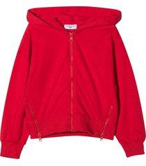 monnalisa fucsia sweatshirt with hood