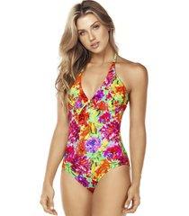 traje de baño floral multicolor lisantino