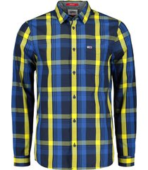tommy jeans overhemd - modern fit - geel