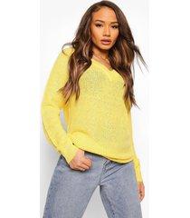 baggy sweater, lemon