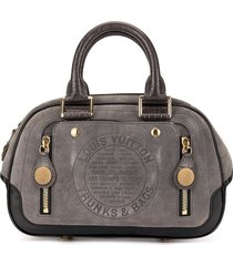 louis vuitton pre-owned 2006 pre-fall stamp bag pm tote - black