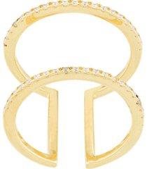 eshvi double ring - gold