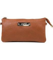bolsa carteira feminina zariff em couro legítimo