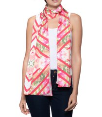 inc chevron floral oblong scarf, created for macy's