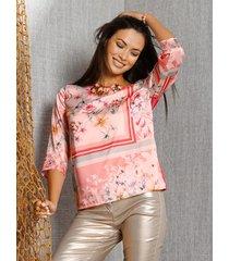 blouse amy vermont roze::geel::blauw