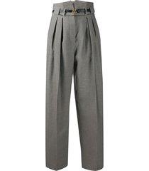 fendi karligraphy buckle trousers - neutrals