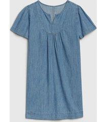 vestido denim azul gap