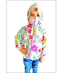 chaqueta proteccion estampada flores rosada f protect 12
