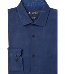 camisa dudalina manga longa fio tinto maquinetada masculina (azul marinho, 6)