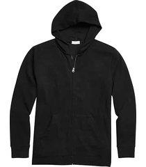alternative apparel men's full zip modal interlock lounge hoodie black - size: large