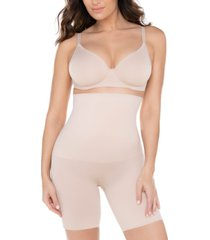 miraclesuit women's comfy curves hi-waist thigh slimmer shapewear 2519