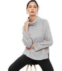 sweater privilege gris - calce holgado