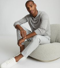 reiss santiago - cashmere blend hoodie in soft grey, mens, size xxl