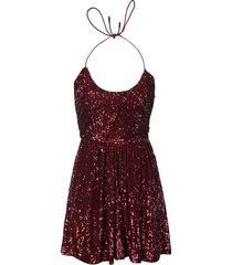 saint laurent sequin-coated sleeveless dress
