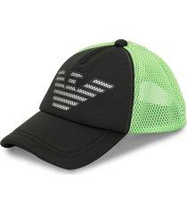 emporio armani mesh logo baseball cap - black