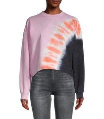 lea & viola women's tie-dyed sweatshirt - tie dye - size l