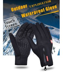 outdoor sports windstopper waterproof gloves black riding glove motorcycle glove